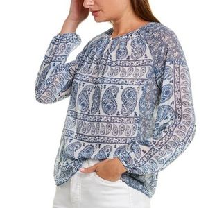 VINCE CAMUTO Floral Beaty Mix Print Top